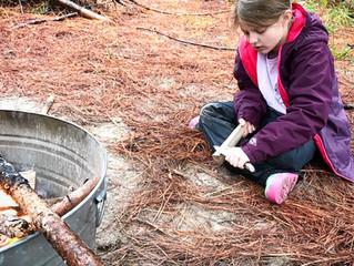 Herons: Week Seven - Tarp Shelters, Games & Wood Carving