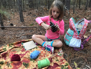 Fireflies Fall 2017: Week 7 - Nature Crafts & Teepees