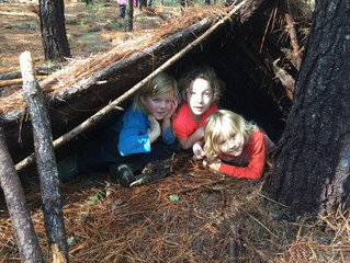 Gray Squirrels 2017-18: Week 11- Storytelling and Shelter Building