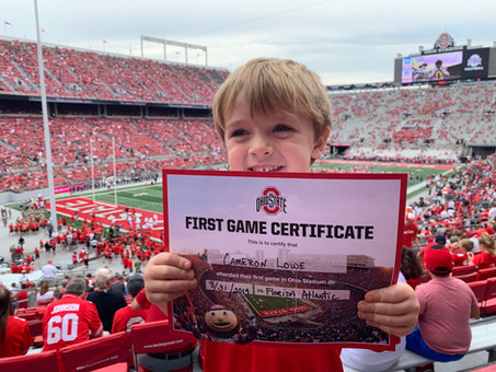 """""""First"""" Buckeye Football Game at  THE Ohio State University"""