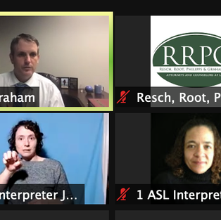 Our First Zoom Webinar with ASL Interpreters