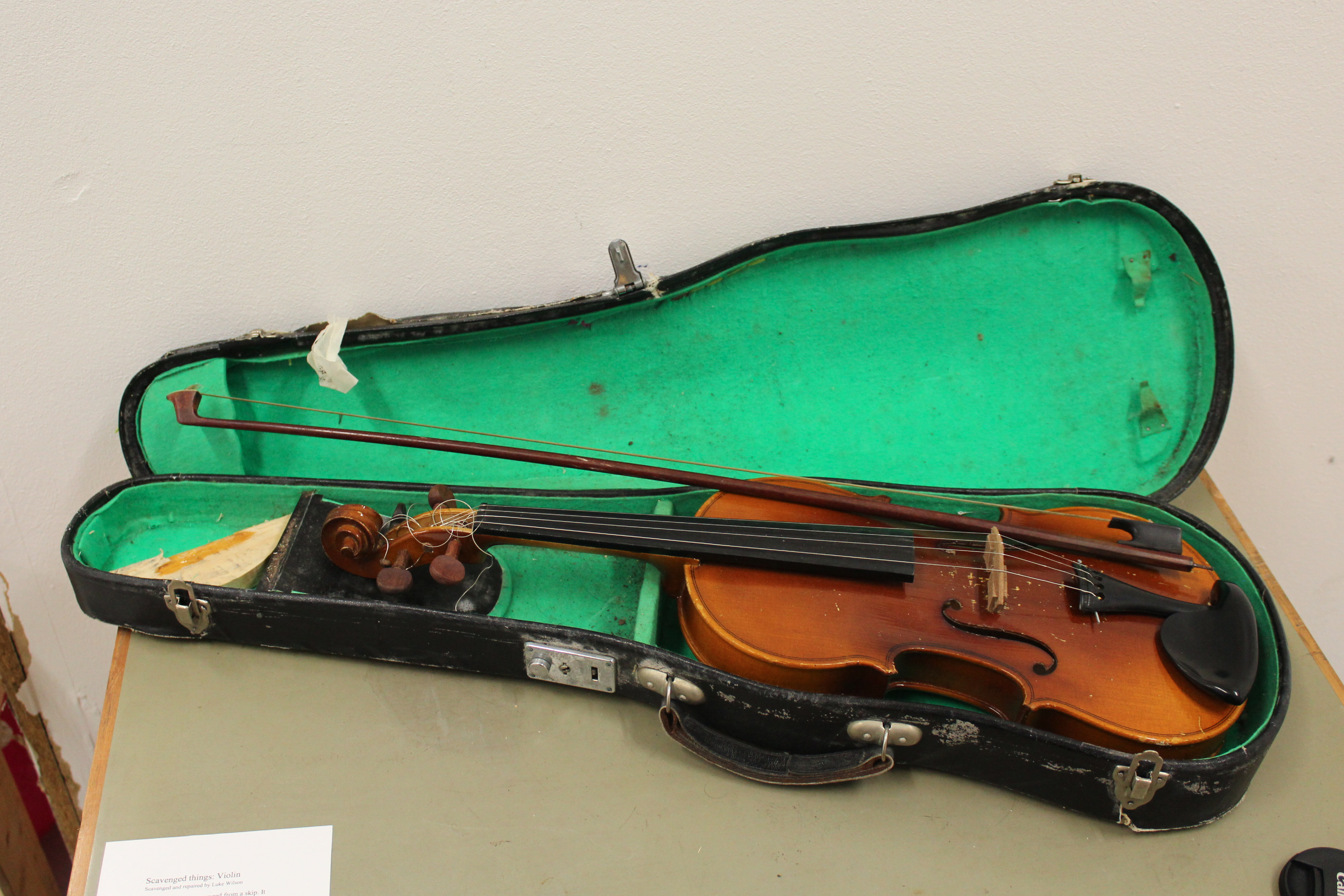 Violin on table