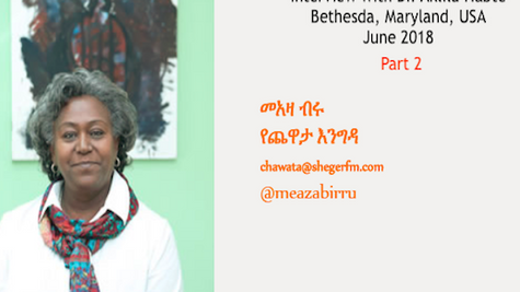 Meaza Birru Interviews Dr. Aklilu Part 2 of 3