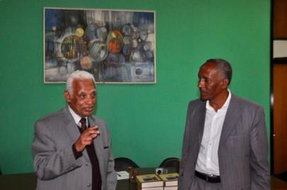 Dr. Aklilu Donates his Book to Addis Ababa University on January 16, 2019