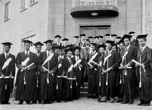 Emperor with First Class of Degree Level and Diploma Graduates of the University College