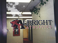 Albright College Athletics Building Glass Door Lettering
