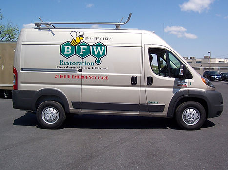 BFW Restoration Cargo Van Lettering