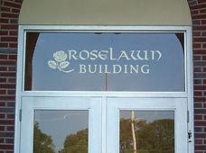 Roselawn Transom Office Building Glass Window Lettering