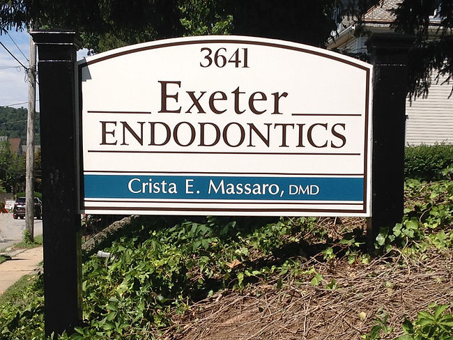 Exeter Endodontics Exterior Post and Pan