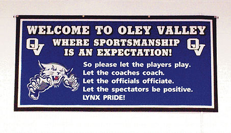 Welcome to Oley Valley High School Sportsmanship Athletics Lynx Pride Sports Athletic Banner