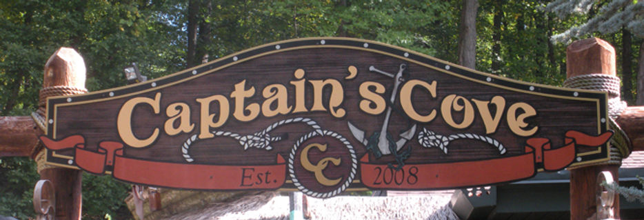 Captain's Cove Mountain Springs Outdoor Restaurant Exterior Sign