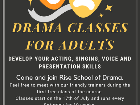 Come and join Rise School of Drama