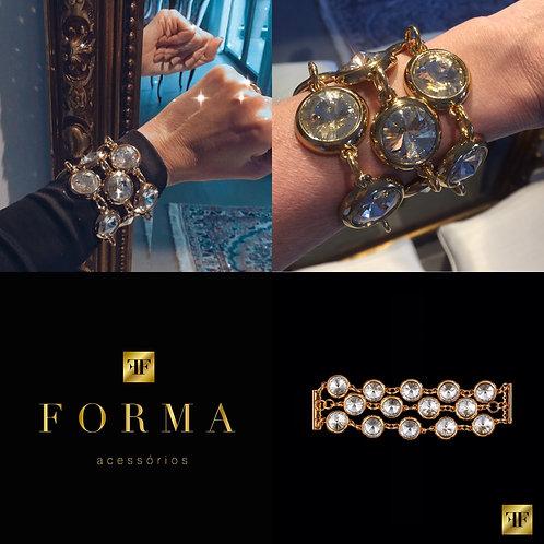Bracelete Cristal Gold