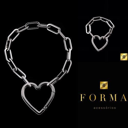 Combo Gargantilha Love+Bracelete Love