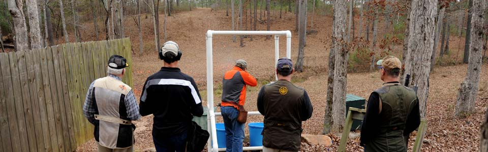 Shoot some clay targets.