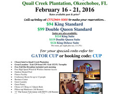 2016 GATOR CUP HOTEL DEAL