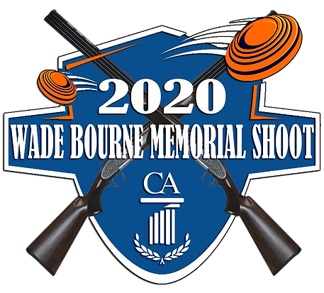 2020 wade bourne shoot logo with shotgun