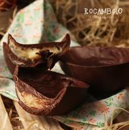 Rocambolo - Ovo de chocolate com caramelo salgado