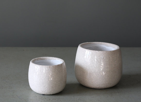 Crackle Plant Pots
