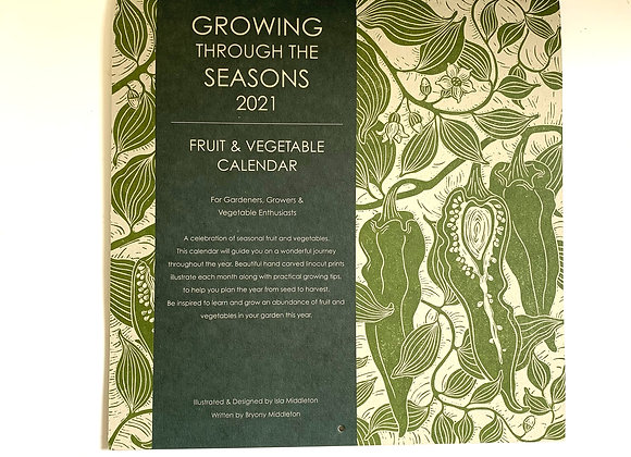 2021 Calendar  - Growing through the seasons