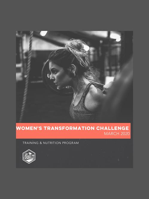 Women's Four Week Challenge -  March 9, 2020