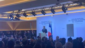 Inauguration du Centre Européen du Judaïsme par Emmanuel Macron...