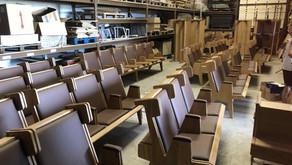 La production pour la synagogue du CEJ bat son plein...