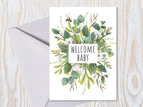 Welcome Baby - Greeting Card