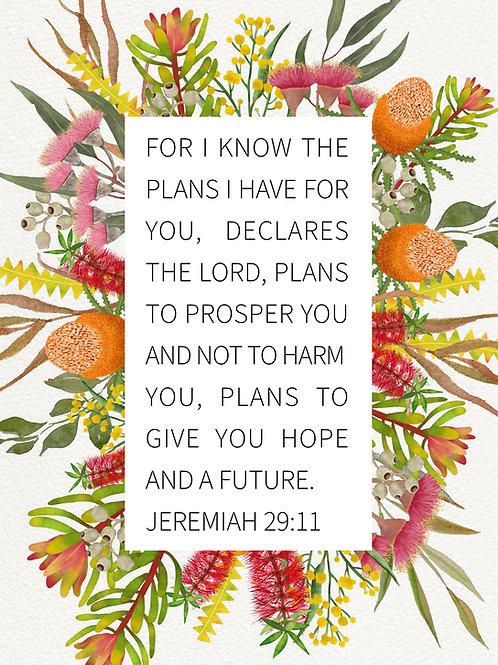 Jeremiah 29:11 - Art Print