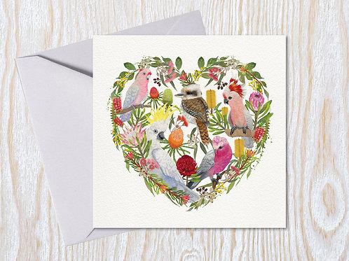 Australian Heart - Greeting Card