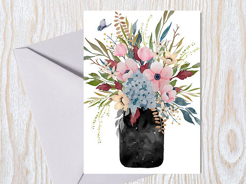 Soft Country Bouquet - Greeting Card