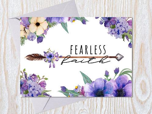 Fearless Faith Greeting Card