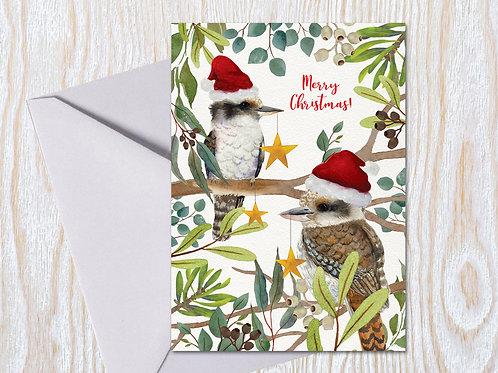 Merry little Kookaburras - Christmas Card