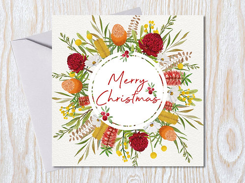Native Wreath - Christmas Card