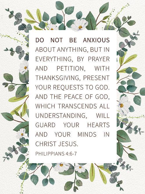 Do Not Be Anxious - Art Print