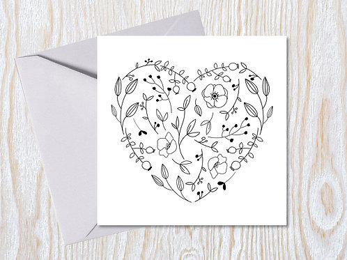Simple Heart - Greeting Card