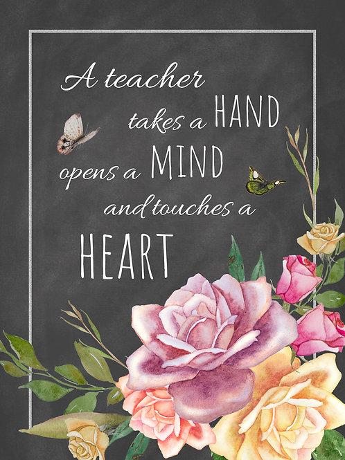 A Teacher Touches the Heart