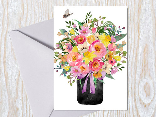 Spring Bouquet - Greeting Card