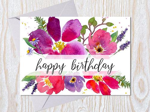 Bold Birthday Greeting Card