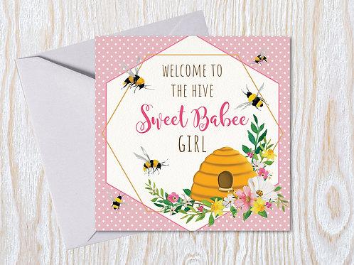 Sweet Babee Girl - Greeting Card