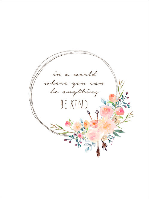 Be Kind - Pastel Art Print