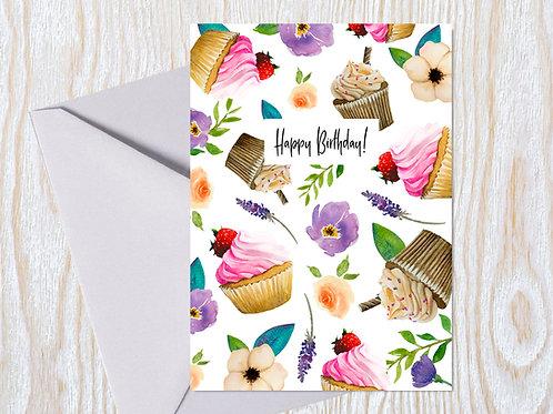 Sweet Birthday Blooms Greeting Card