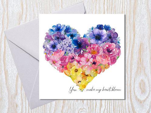 You make my heart bloom - Greeting Card