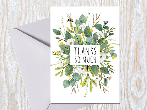 Thanks So Much - Greeting Card
