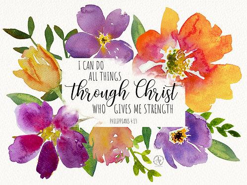 Through Christ - Art Print