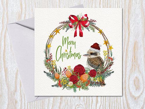 Starry Wreath - Christmas Card