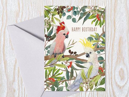 Kookaburra & Cockatoo - Greeting Card