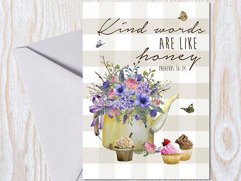 Kind Words are like Honey Greeting Card
