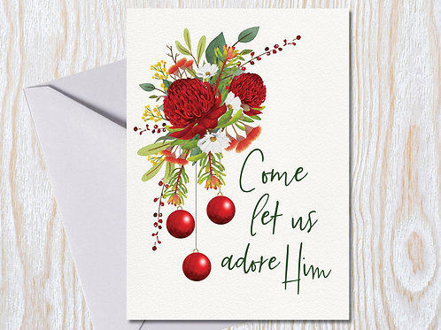 Let us Adore Him - Christmas Card