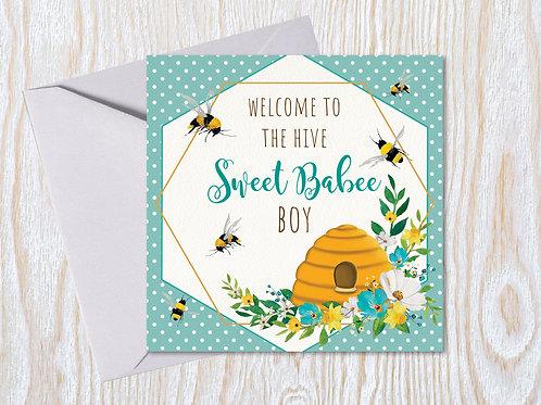 Sweet Babee Boy - Greeting Card